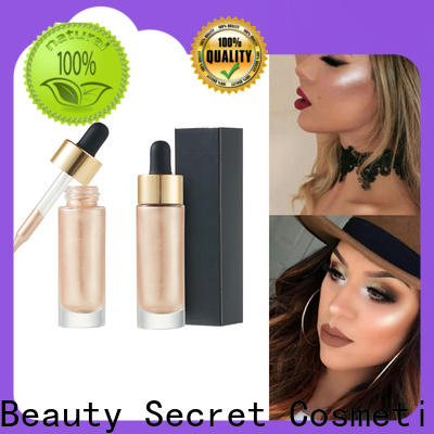 waterproof liquid highlighter with gold cap for beauty