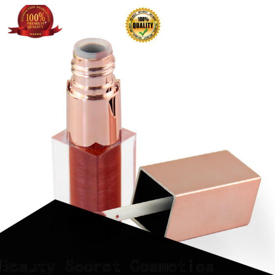 Beauty Secret Cosmetics waterproof custom lip gloss with your own logo for sale