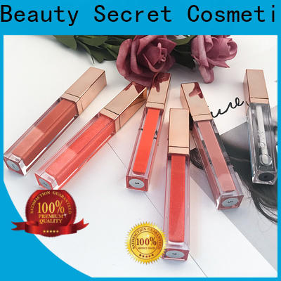 Beauty Secret Cosmetics lip gloss shimmer with your own logo fast delivery