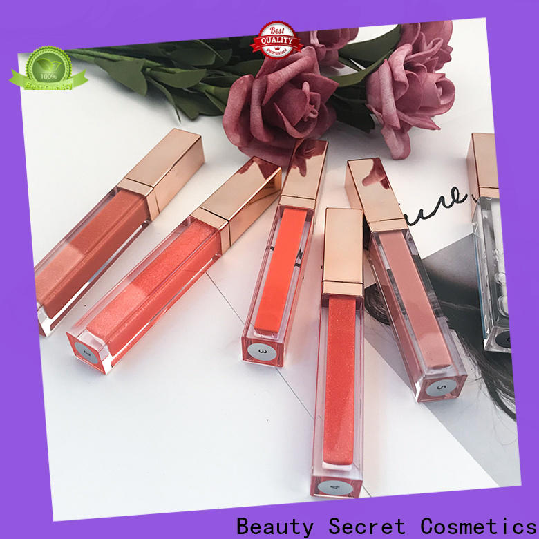 Beauty Secret Cosmetics lip gloss shimmer with your own logo wholesale