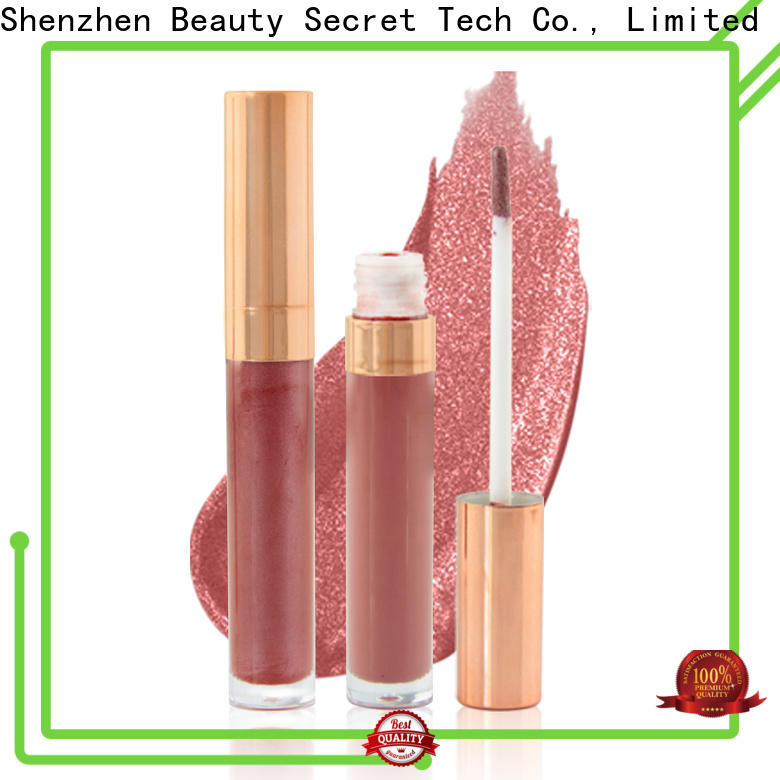 Beauty Secret Cosmetics wholesale lip gloss with gold cap fast delivery