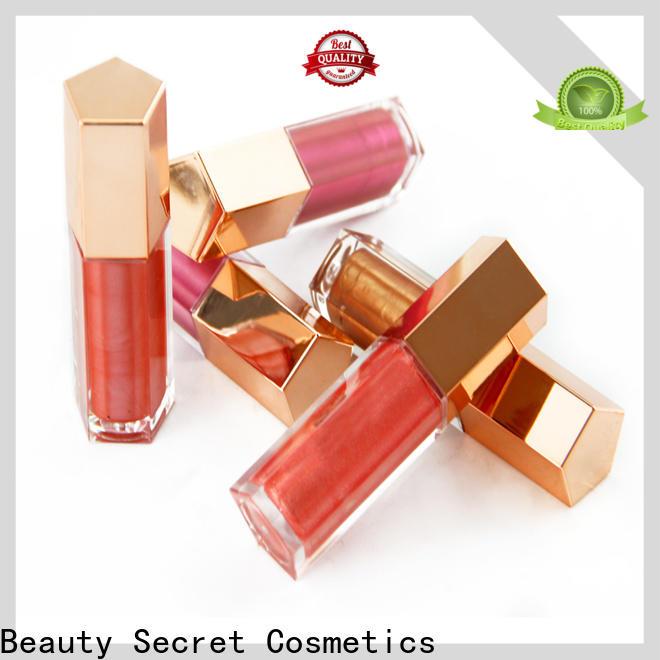 Beauty Secret Cosmetics glossy custom lip gloss manufacturer fast delivery