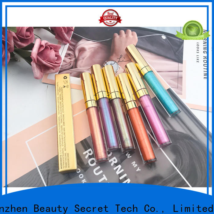 Beauty Secret Cosmetics round lip gloss shimmer manufacturer wholesale
