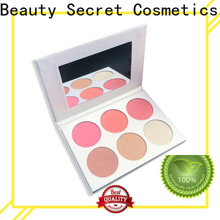Beauty Secret Cosmetics pigmented blusher palette private label fast delivery