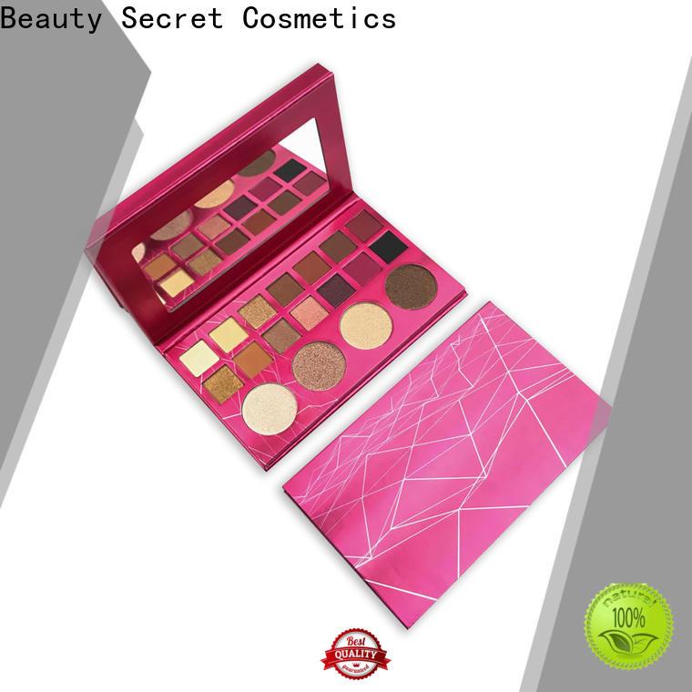 Beauty Secret Cosmetics bright eyeshadow palette with custom logo for sale