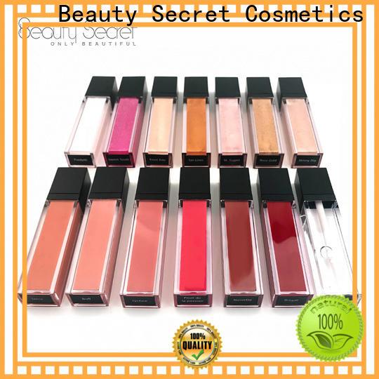 Beauty Secret Cosmetics custom lip gloss supplier fast delivery