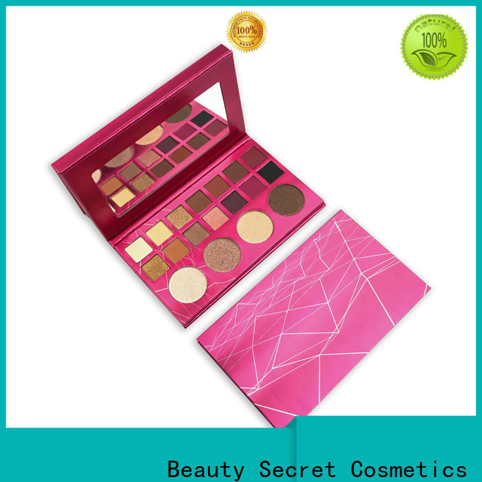 shimmer bright eyeshadow palette with mirror fast delivery
