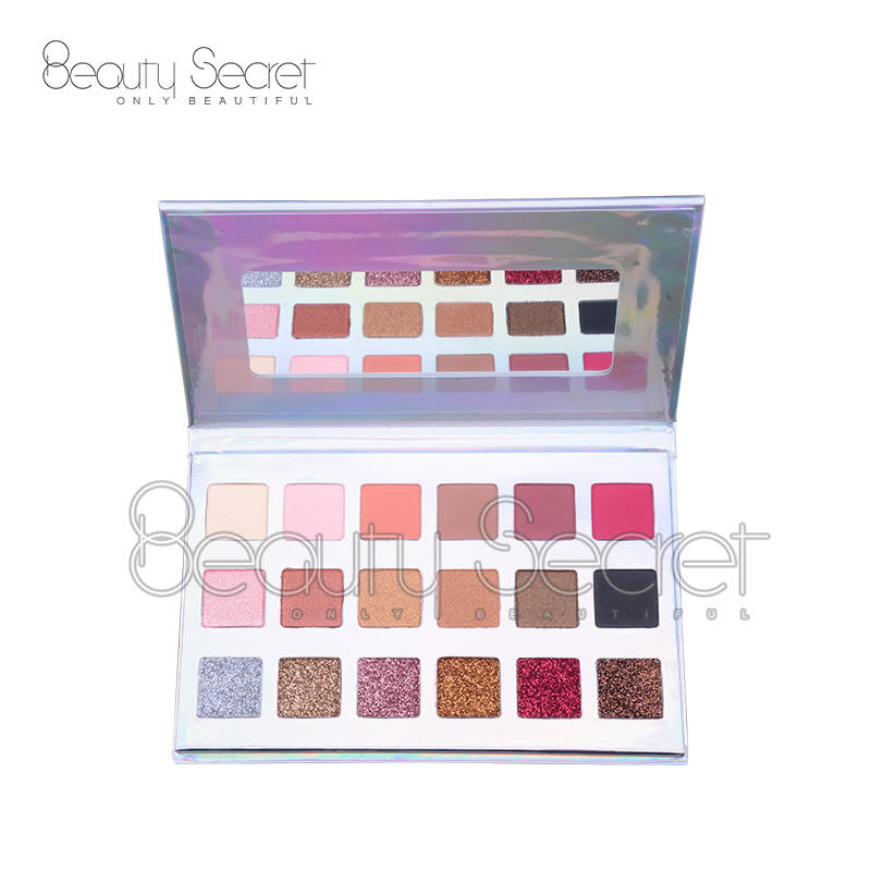OEM Wholesale New Private Logo Eyeshadow 18 Colors OEM Matte Glitter Eyeshadow