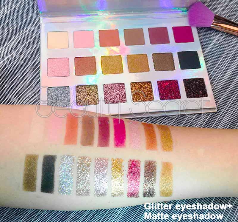 Beauty Secret Cosmetics long lasting shimmer eyeshadow palette powder for sale-5