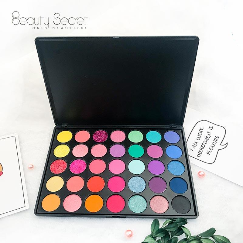 Private label eyeshadow palette cruelty free plastic 35 colors eyeshadow palette 35GE