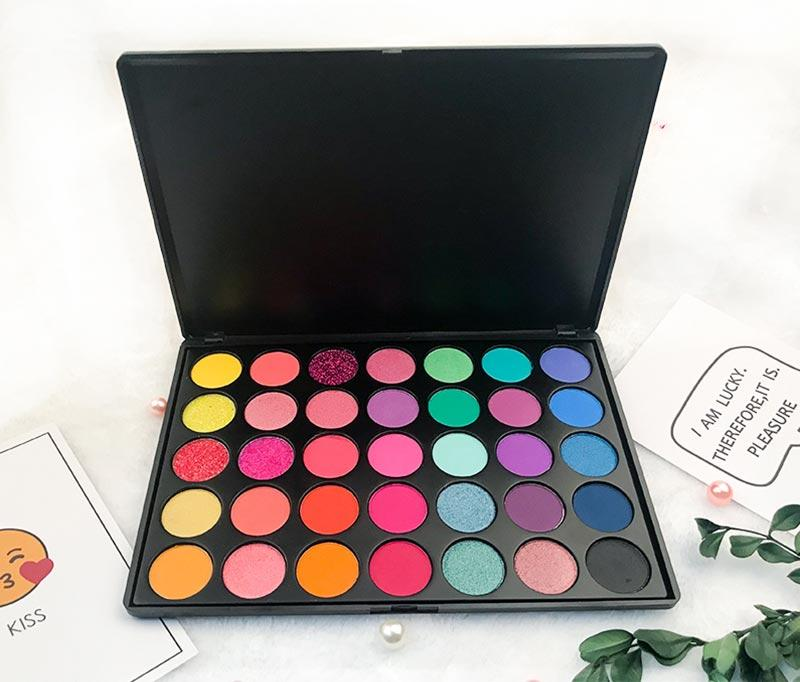 wholesale eyeshadow palettes mirror 35gf 10 Beauty Secret Cosmetics Brand company