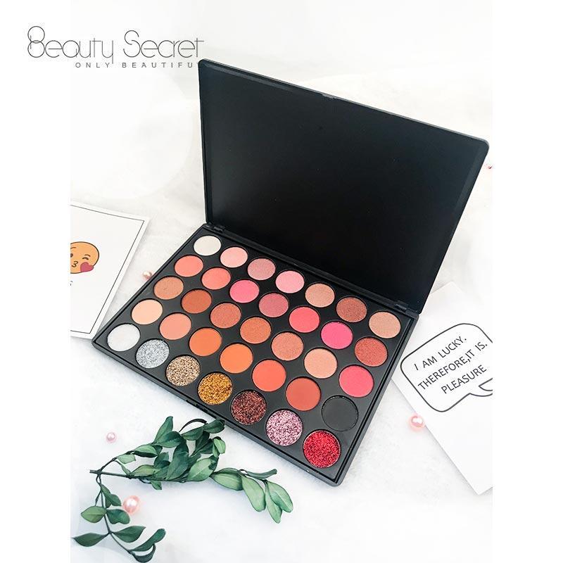 OEM cruelty free plastic 35 colors eyeshadow palette 35GF