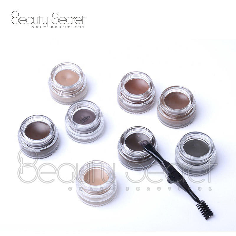 Private label eyebrow gel waterproof with makeup eyebrow brushes
