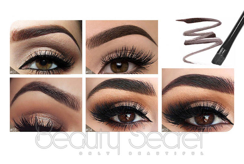 private brushes Beauty Secret Cosmetics Brand eyebrow pencil and brush factory