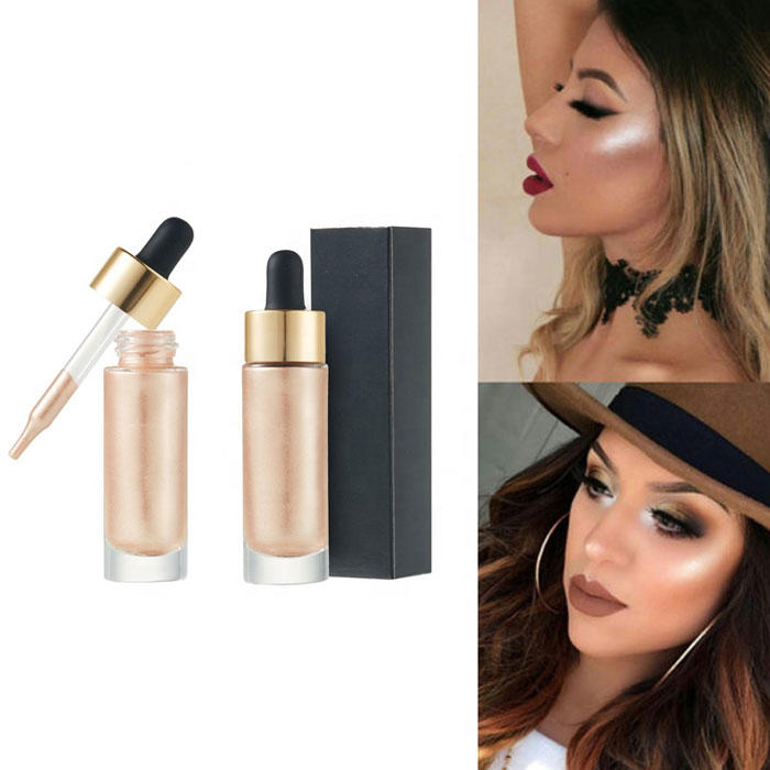 oem liquid highlighter makeup with gold cap for beauty Beauty Secret Cosmetics