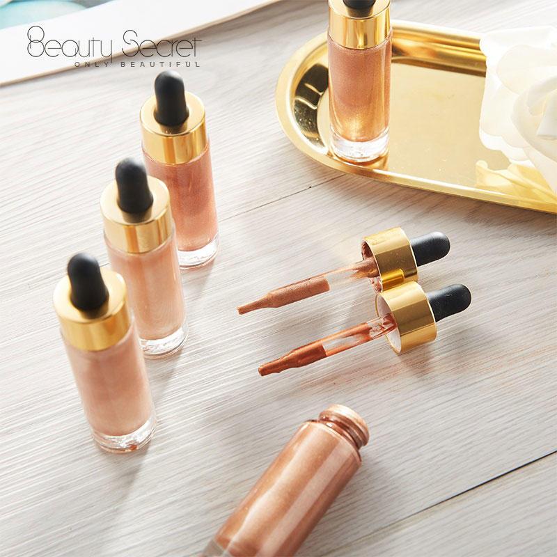 Wholesale gold cap liquid highlighter makeup private label
