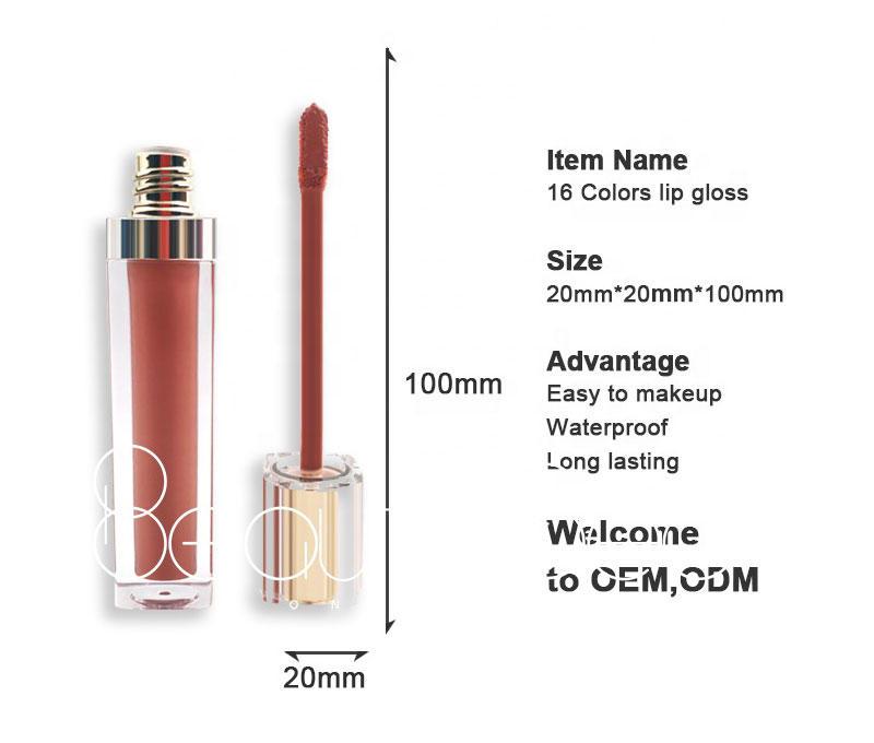 customized metalic lip gloss supplier for makeup Beauty Secret Cosmetics
