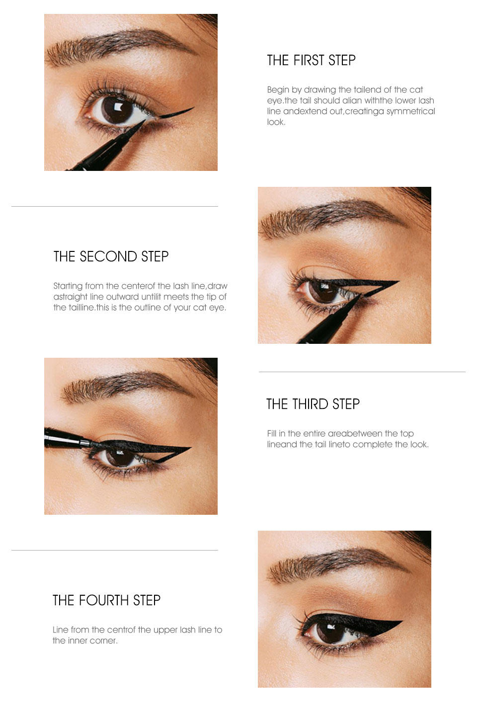 superior quality black liquid eyeliner stamp for makeup Beauty Secret Cosmetics