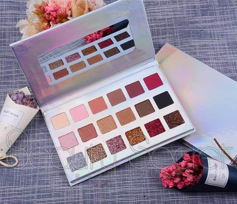Beauty Secret Cosmetics long lasting shimmer eyeshadow palette powder for sale-2