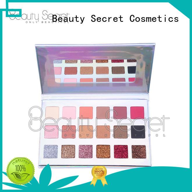Beauty Secret Cosmetics long lasting shimmer eyeshadow palette powder for sale