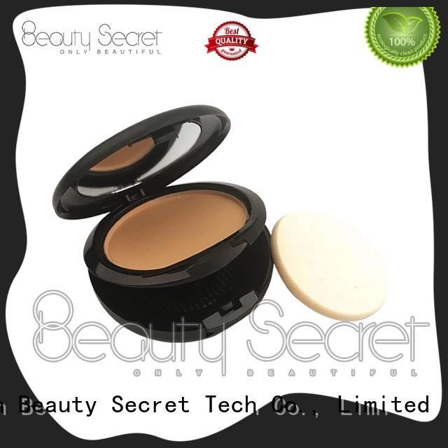 powder base foundation makeup with mirror for makeup