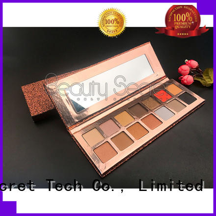 Beauty Secret Cosmetics shining shimmer eyeshadow palette with custom logo fast delivery