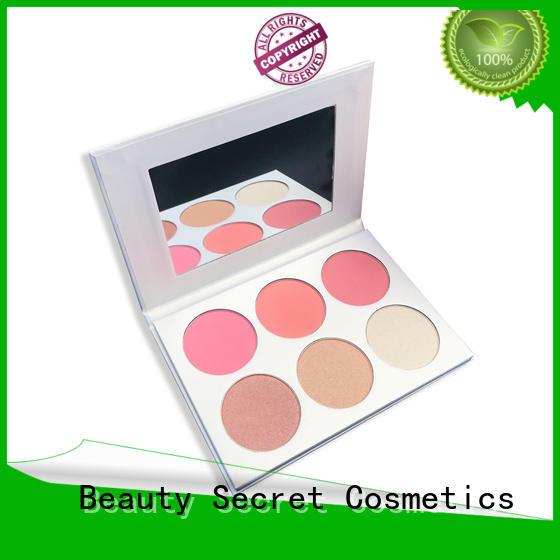 Beauty Secret Cosmetics organic blusher palette manufacturer for sale
