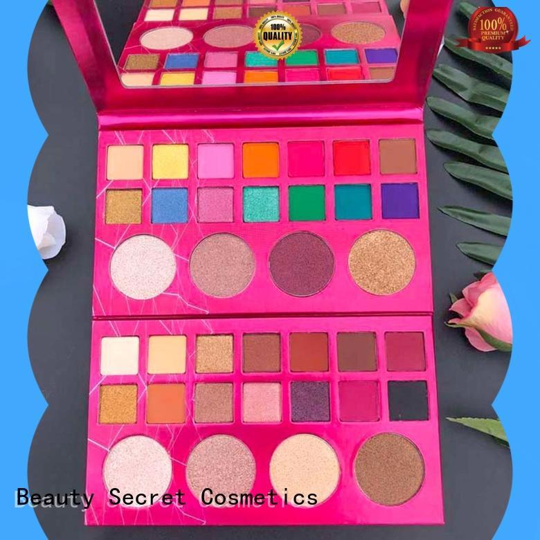 Beauty Secret Cosmetics diamond good eyeshadow palettes with custom logo for ladies