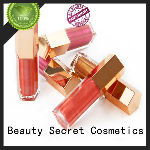 Beauty Secret Cosmetics mineral wholesale lip gloss with your own logo wholesale