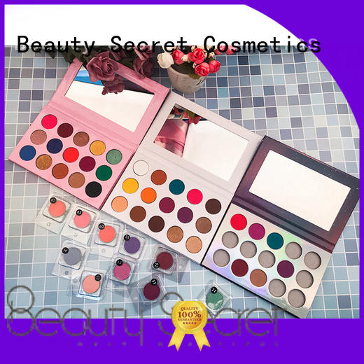 Beauty Secret Cosmetics bright eyeshadow palette with mirror for sale