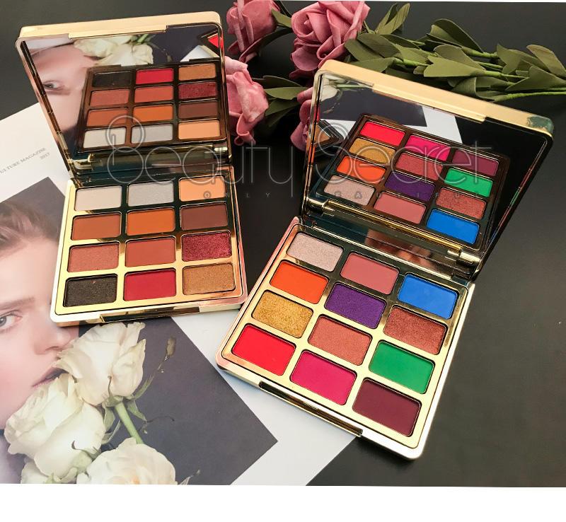 Hot quicksand glitter shimmer matter private label pressed eyeshadow palette