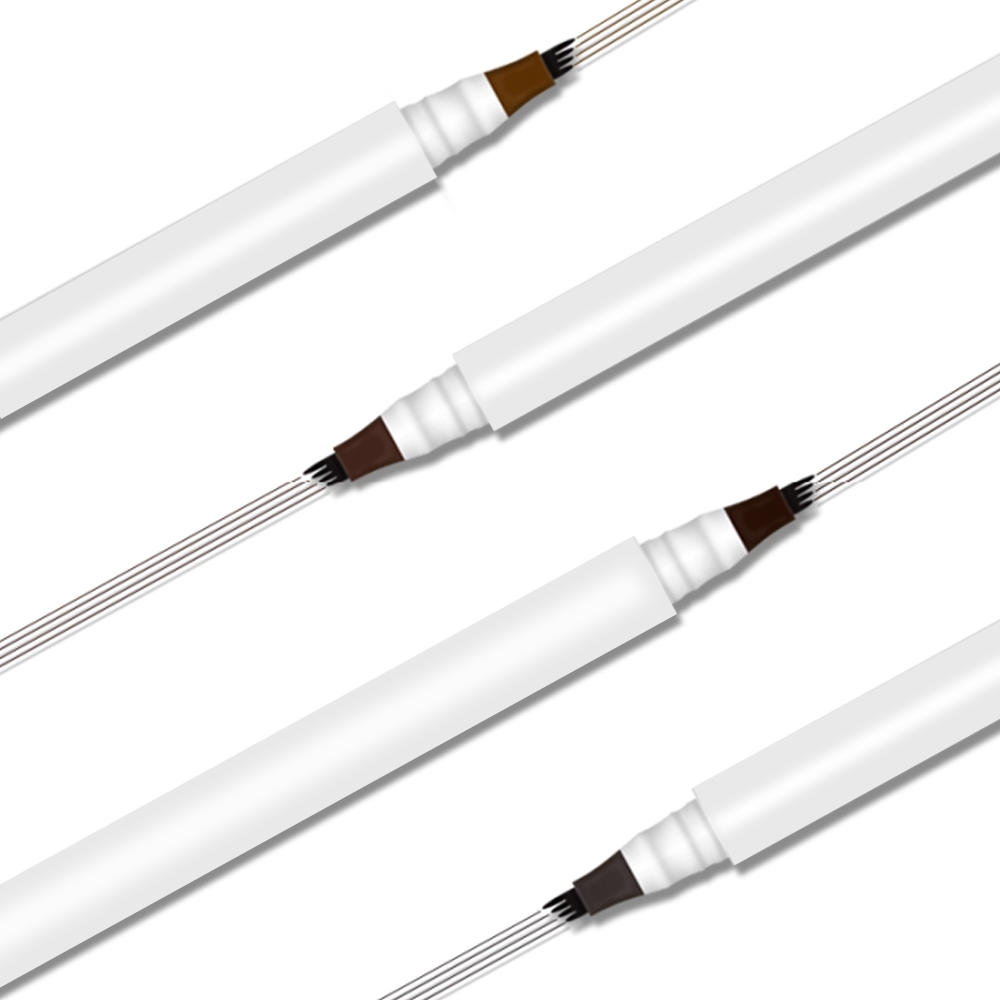 Wholesale Makeup 4 fork tip liquid eyebrow pen waterproof long lasting 3D tattoo eyebrow pencil private label
