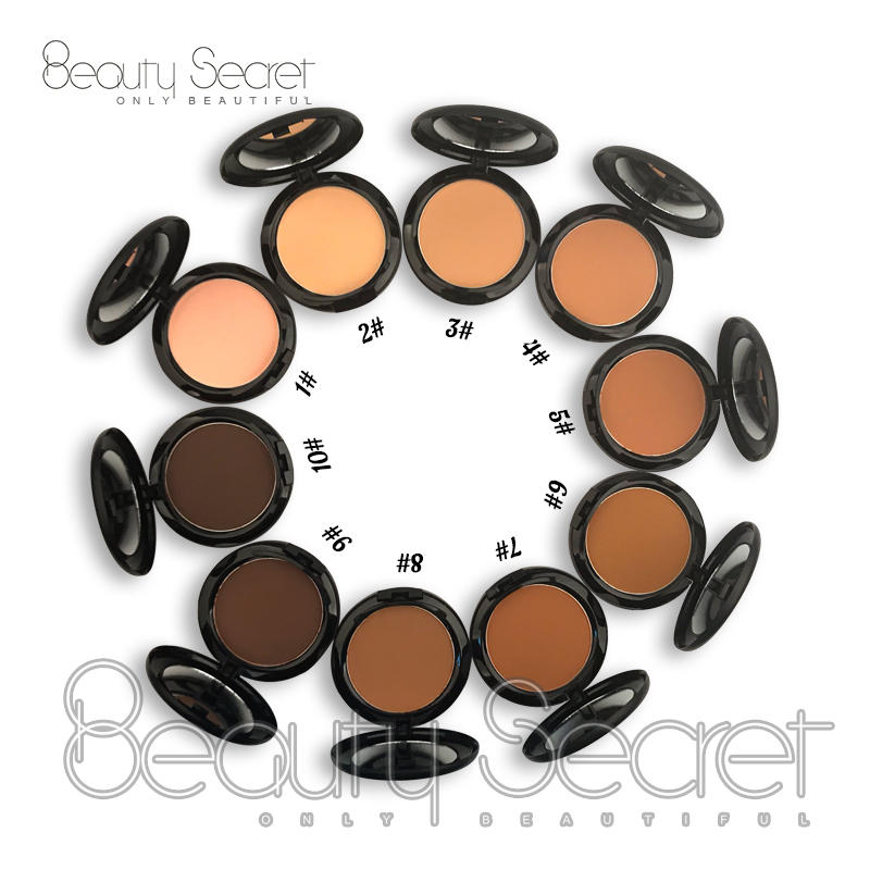 Wholesale high quality mineral powder foundation cosmetic waterproof long lasting face pressed powder makeup private label