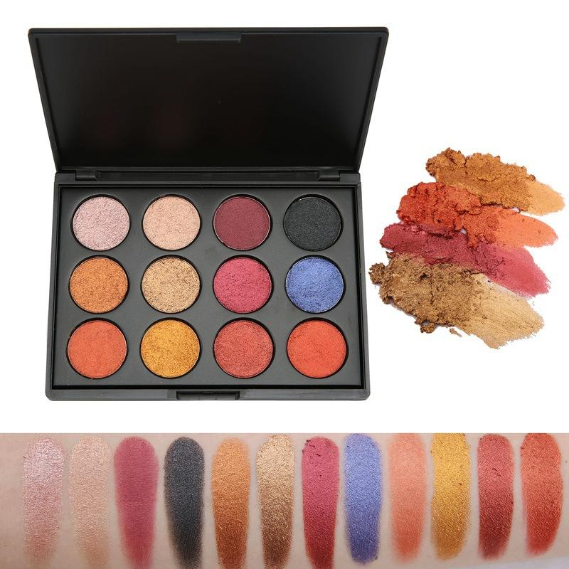New glitter matte private label cosmetics own brand high pigment wet eye shadow