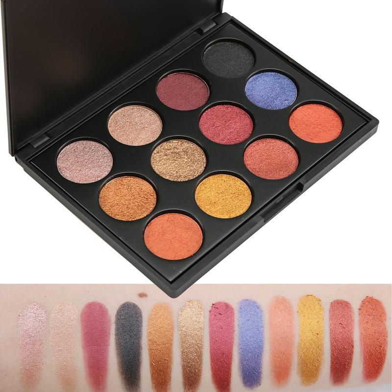 single shimmer eyeshadow palette with custom logo for makeup