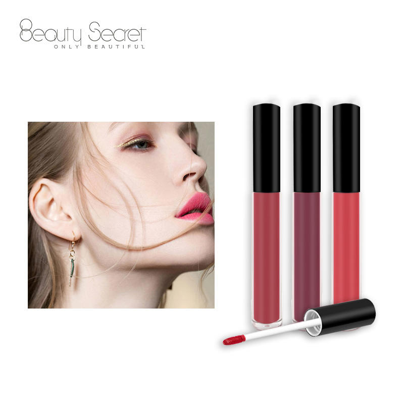Wholesale 14 colors cruelty free custom logo waterproof liquid matte lipstick