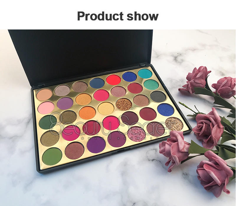 New 35 colors pigmented glitter makeup cosmetic metallic eyeshadow palette