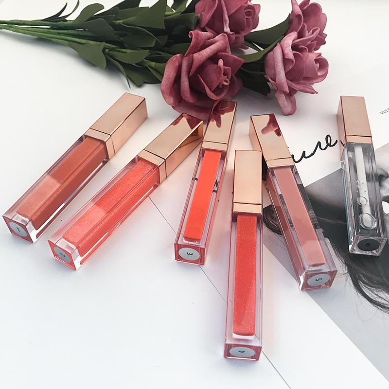 Makeup make your own logo shimmer private label glitter custom lip gloss