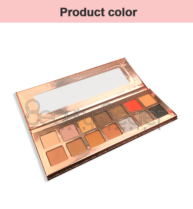 Beauty Secret Cosmetics shining shimmer eyeshadow palette with custom logo fast delivery-4