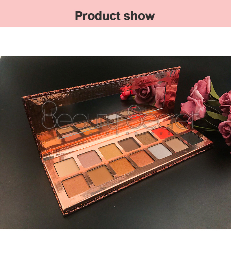 Beauty Secret Cosmetics shining shimmer eyeshadow palette with custom logo fast delivery-6