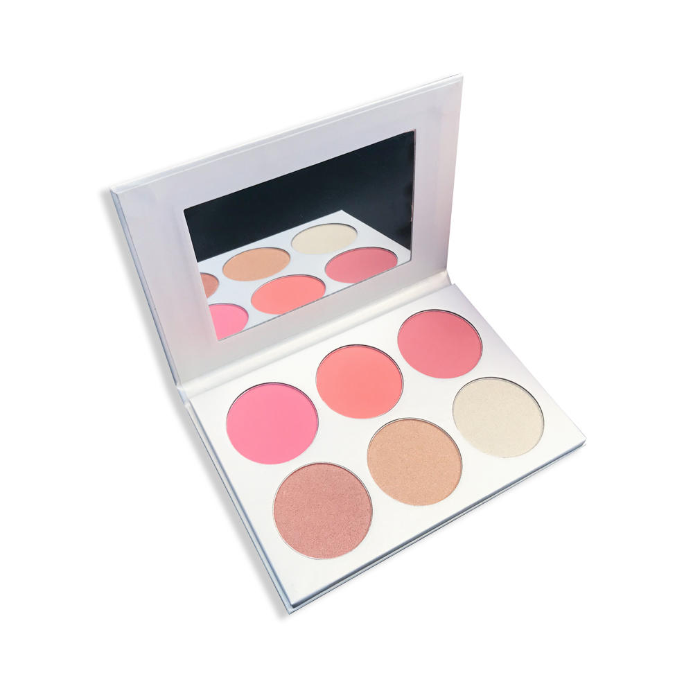 Custom Pigmented Shiny Highlighter  Makeup Private Label Blusher  Palette