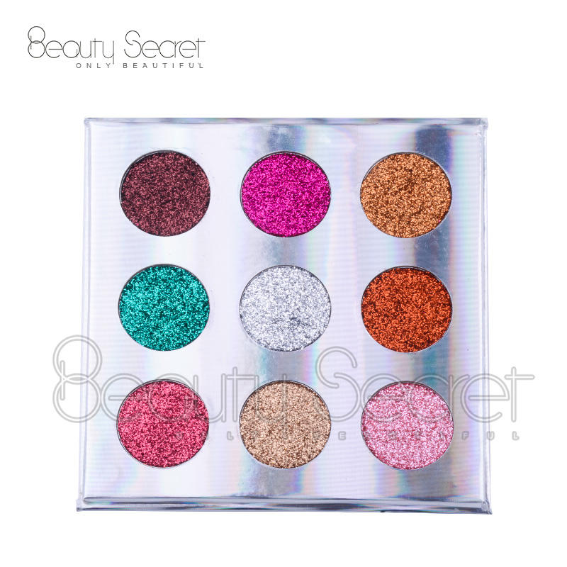 wholesale private label colorful glitter makeup custom your own eye shadow palette