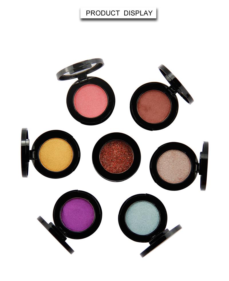 Beauty Secret Cosmetics plastic shimmer eyeshadow palette with custom logo for ladies-4
