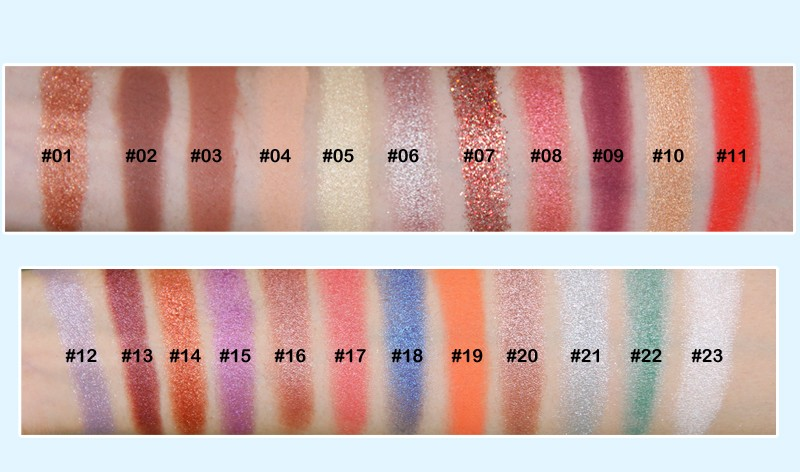 Beauty Secret Cosmetics plastic shimmer eyeshadow palette with custom logo for ladies-7