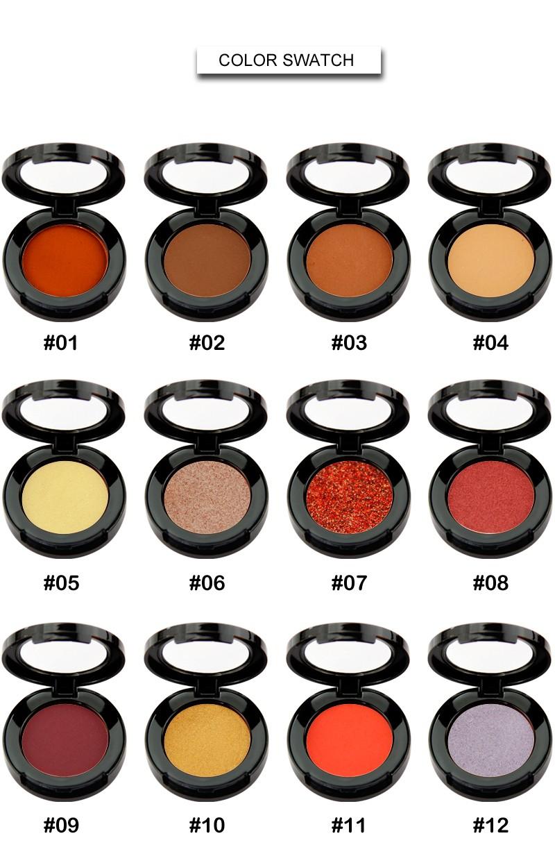 Beauty Secret Cosmetics plastic shimmer eyeshadow palette with custom logo for ladies-6
