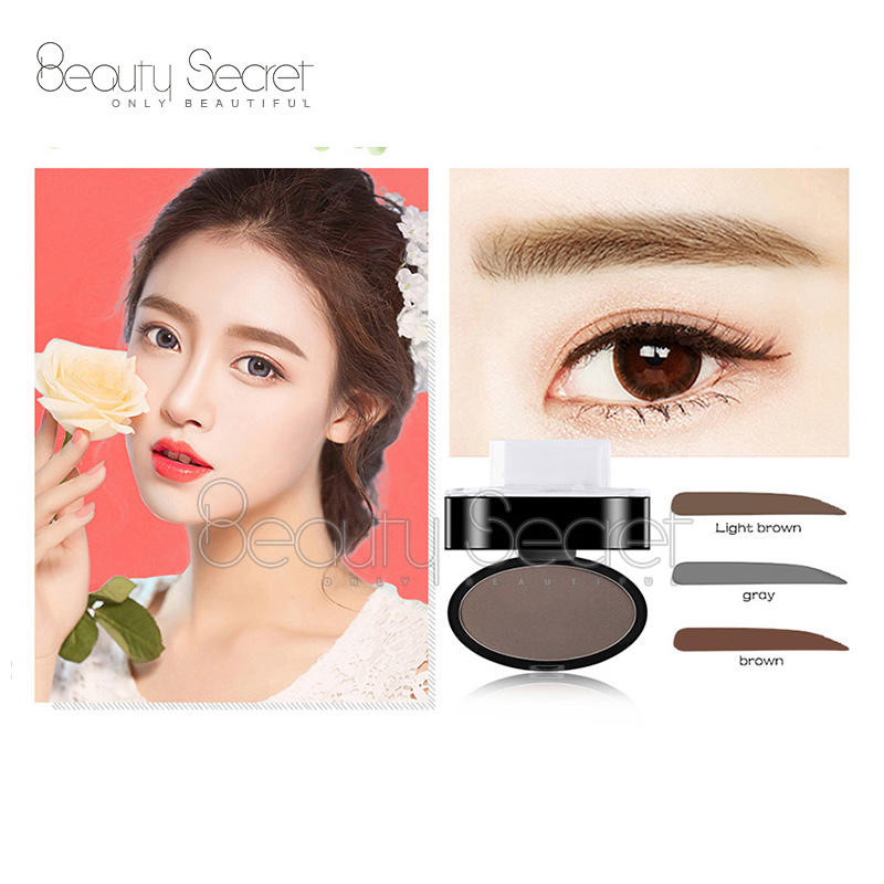 Latest fashion waterproof private label cosmetics waterproof eyebrow stamp powder