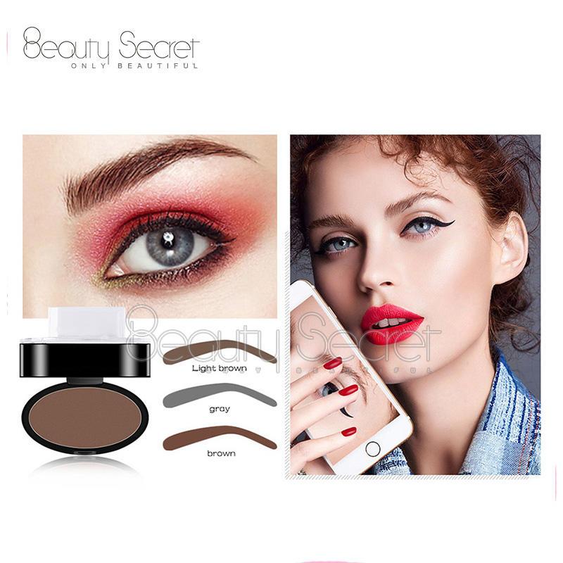 Latest fashion waterproof private label cosmetics waterproof eyebrow stamp powder