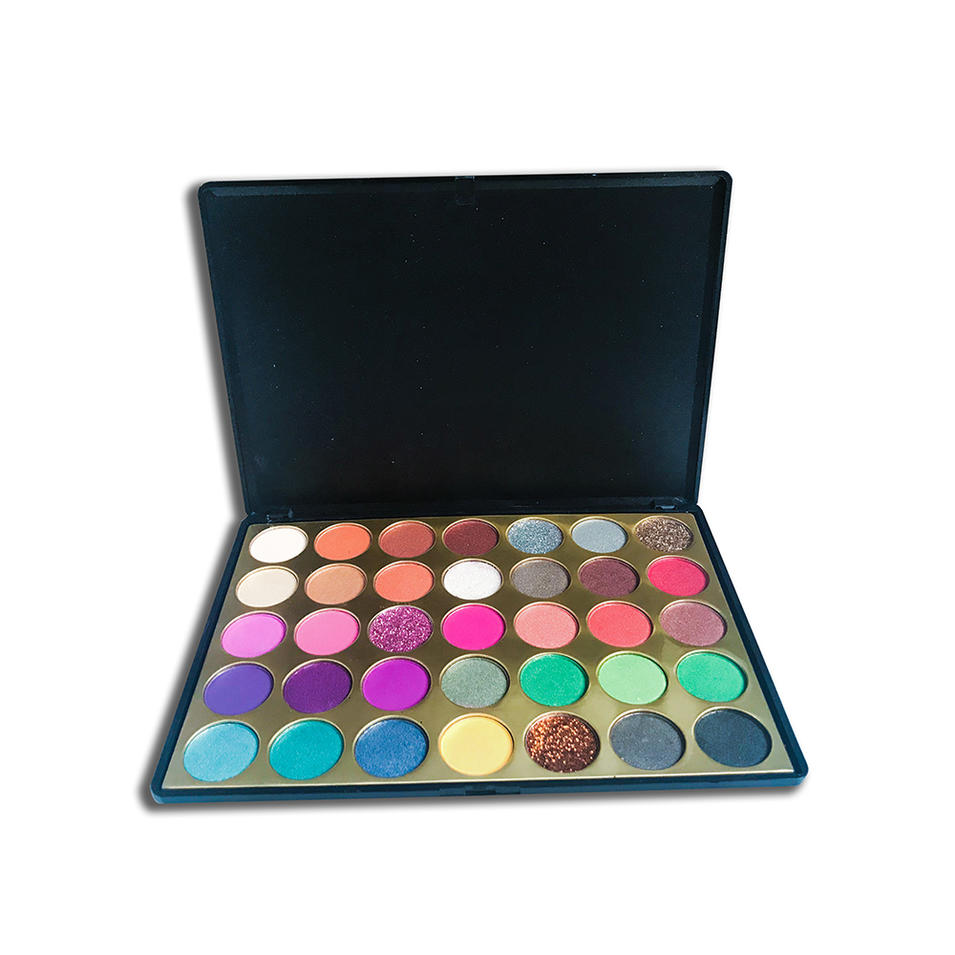 Makeup 35 colors Metallic High Pigment Eyeshadow Private Label