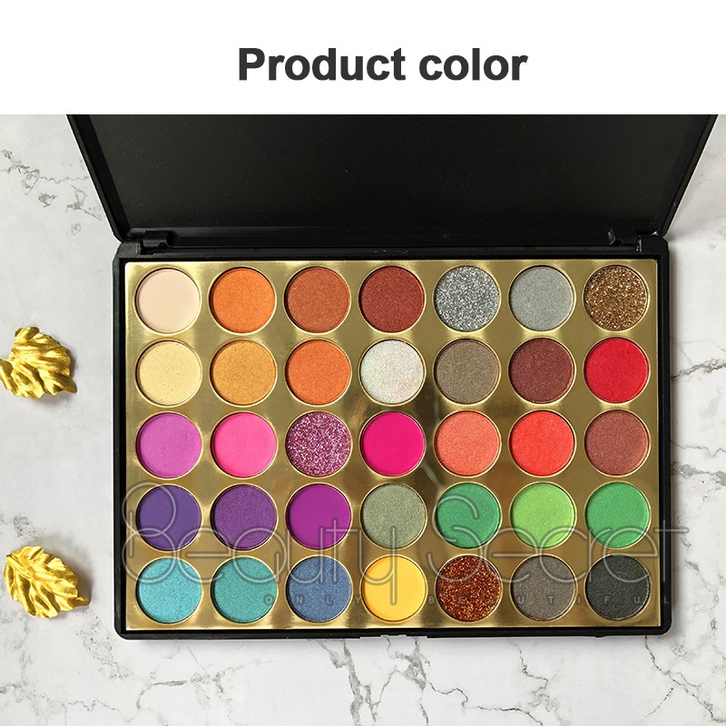 Beauty Secret Cosmetics fluorescent shimmer eyeshadow palette with mirror for sale-6