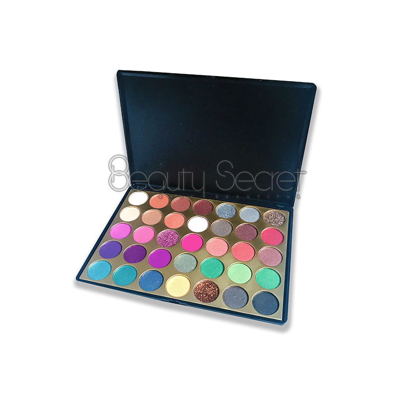 Beauty Secret Cosmetics fluorescent shimmer eyeshadow palette with mirror for sale-4